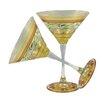 Golden Hill Studio Mosaic Garland Martini Glass (Set of 2)