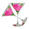Golden Hill Studio Peony Martini Glass (Set of 2)
