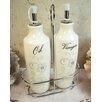 D'Lusso Designs Shimmer 3 Piece Oil and Vinegar Cruet Set