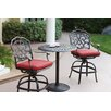 Darlee Series 60 3 Piece Bar Table Set with Cushions