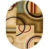 Well Woven Barclay Ivory/Natural Arcs and Shapes Modern Area Rug