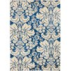 Well Woven Sydney Damask Toile Navy Blue Area Rug