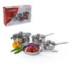 Alpine Cuisine 7 Piece Belly Shaped Stainless Steel Cookware Set