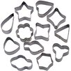 Winco 12 Piece Shapes Cookie Cutter Set