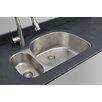 """Wells Sinkware Craftsmen Series 31.75"""" x 20.88"""" 20/80 Double Bowl Kitchen Sink"""