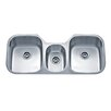 "Wells Sinkware Speciality Series 45.88"" x 20.75"" Triple Bowl Kitchen Sink"