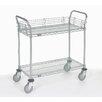 Nexel 2 Shelf Utility Cart with Pneumatic Caster