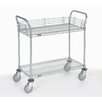 Nexel 2 Shelf Utility Cart with Polyurethane Casters