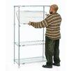 Nexel E-Z Adjust Wire 4 Shelf Shelving Unit Starter
