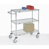 Nexel Adjustable Wire Shelf Cart with 2 Braking Casters