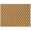Rug Expressions Flat Weave Light Orange/White Area Rug