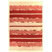 Rug Expressions Soft Flat Weave Red Area Rug