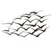 EC World Imports Urban Handcrafted Flock of Birds Metal Art Wall Decor