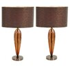 "EC World Imports Urban 25"" Table Lamp with Drum Shade (Set of 2)"