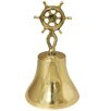 EC World Imports Nautical Lacquered Brass Captain's Ship Bell