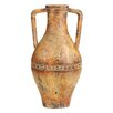 EC World Imports Porto Fino Distress Terra Cotta Art Ceramic Vase