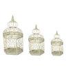 EC World Imports Urban 3 Piece Vintage Decorative Metal Bird Cages Set