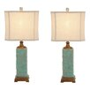 "EC World Imports Urban Designs Carmel Seafoam 30"" H Table Lamp with Drum Shade (Set of 2)"