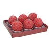 Fantastic Craft Red Ball T- lite Novelty Candle (Set of 6)
