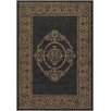 Couristan Recife Antique Medallion Black Indoor/Outdoor Area Rug