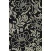 Dalyn Rug Co. Structures Black Floral Area Rug