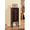 CTE Trading 5 Drawer Jewelry Armoire with Flip Top Mirror