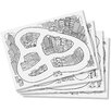Fred & Friends Drive Thru 52 Piece Placemat and Crayon Set