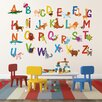 Pop Decors Repositionable 26 Alphabet Animals Wall Decal