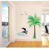 Pop Decors Dolphin and Coconut Tree Wall Decal