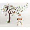 Pop Decors Nursery Tree with Colorful Parrots Wall Decal