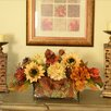 Floral Home Decor Sunflower and Hydrangea Silk Floral Planter