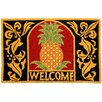 Homefires Welcome Pineapple Area Rug