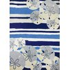 Homefires Sand Dollar Beige/Blue Indoor/Outdoor Area Rug