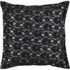 Surya Flower Lace Throw Pillow