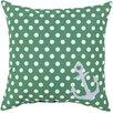 Surya Rain Anchored in Polka Dots Outdoor Throw Pillow