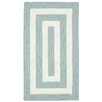 Capel Rugs Willoughby Striped Spa Blue Area Rug