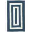 Capel Rugs Willoughby Indigo/White Striped Outdoor Rug