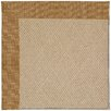 Capel Rugs Zoe Cane Wicker Machine Tufted Golden Area Rug