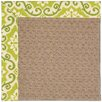 Capel Rugs Zoe Grassy Mountain Machine Tufted Green Fruit and Brown Area Rug