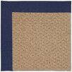 Capel Rugs Zoe Raffia Machine Tufted Navy and Beige Area Rug