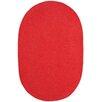 Capel Rugs Custom Classics Oval Braided Red Area Rug