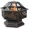 Uniflame Corporation Bronze Outdoor Wood Burning Fire Pit with Lattice