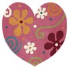 Dynamic Rugs Fantasia Heart Light Pink Area Rug