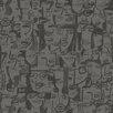 """Tres Tintas Barcelona 9 Selvas De Mariscal 33' x 21"""" Caras Tres Wallpaper"""