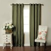 Brielle Fortune Faux Dupioni Silk Lined Single Curtain Panel