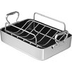 "Chef's Design 14"" Polished Aluminum French Roaster with Rack"