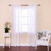 Best Home Fashion, Inc. Zebra Burnout Sheer Rod Pocket Curtain Panels (Set of 2)