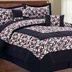 BNF Home Safari Zebra Flower 6 Piece Comforter Set