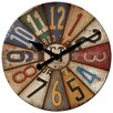 """FirsTime 15.5"""" Vintage Plates Wall Clock"""