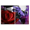 Ready2hangart 'Roses are Red, Violets are Blue III' by Art Alexis Bueno 2 Piece Wrapped Canvas Wall Art Set